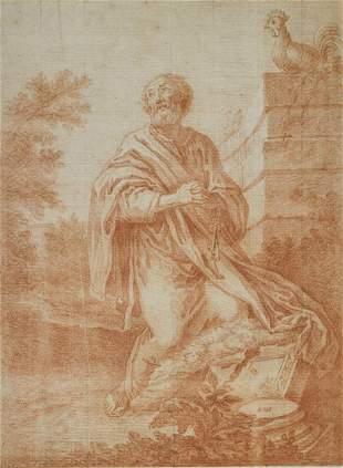 SCUOLA ROMANA DEL XVII SECOLO Saint Peter.