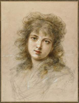 THEODORE TCHOUMAKOFF Portrait of a young girl.