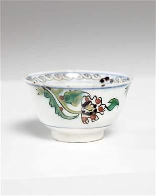 Arte Islamica A Kutahya pottery cup Turkey, 18th