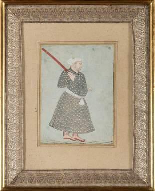 Arte Indiana Indian miniature of a Rajput
