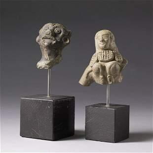 Arte Indiana Two terracotta figural fragments