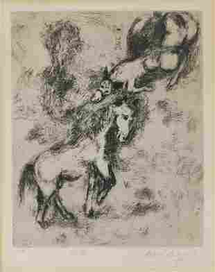 MARC CHAGALL Fables de la Fontaine series:Le Cheval et