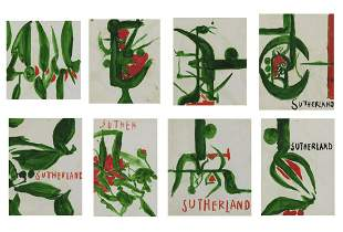 GRAHAM SUTHERLAND Lot composed of n.8 drawings.