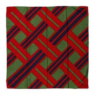 ROBERTA DI CAMERINO Multicolored silk scarf (green, red