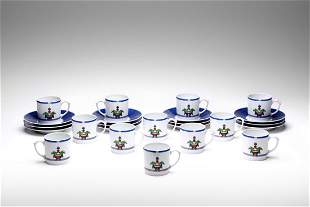CARTIER Coffee service consisting of 12 cups with