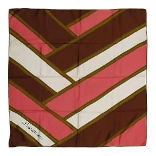 AUTORE NON IDENTIFICATO Multicolored silk scarf