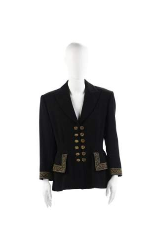 LOLITA LEMPICKA Black jacket with buttons and gold