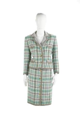 CHANEL Bouclé wool suit consisting of jacket with