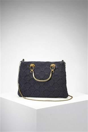 ROBERTA DI CAMERINO Handbag in blue cotton and metal.