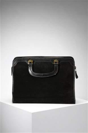 SALVATORE FERRAGAMO Handbag in black suede leather and