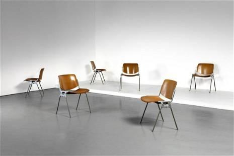 GIANCARLO PIRETTI Six chairs for Anonima Castelli.