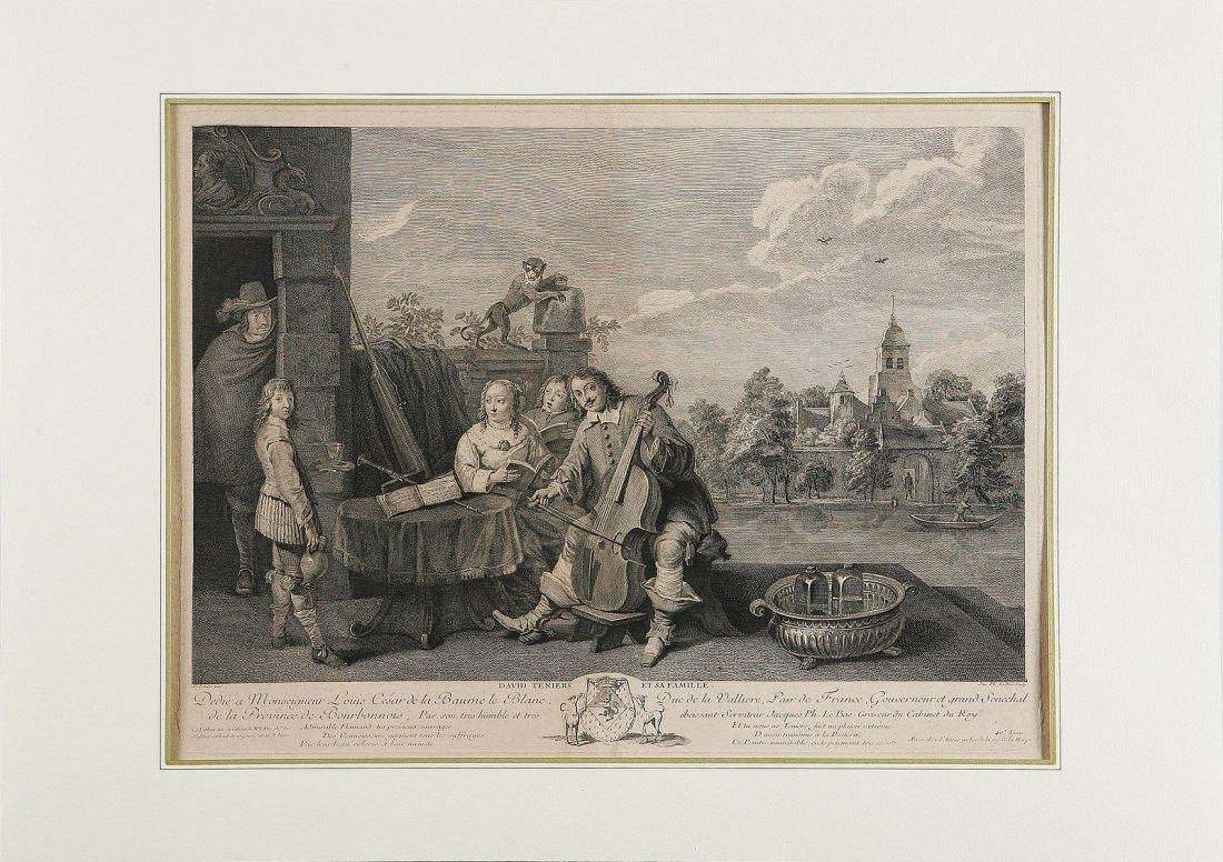 617: David Teniers con la sua famiglia.
