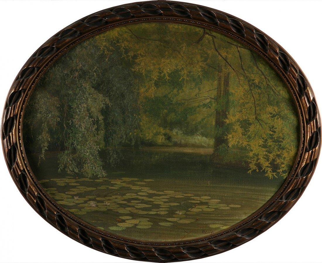 5: PIETRO LEIDI - Paesaggio con stagno (Giardini di Vil