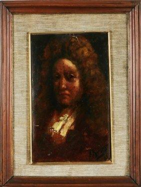 22: ARTISTA DEL XIX SECOLO - Gentiluomo con parrucca.