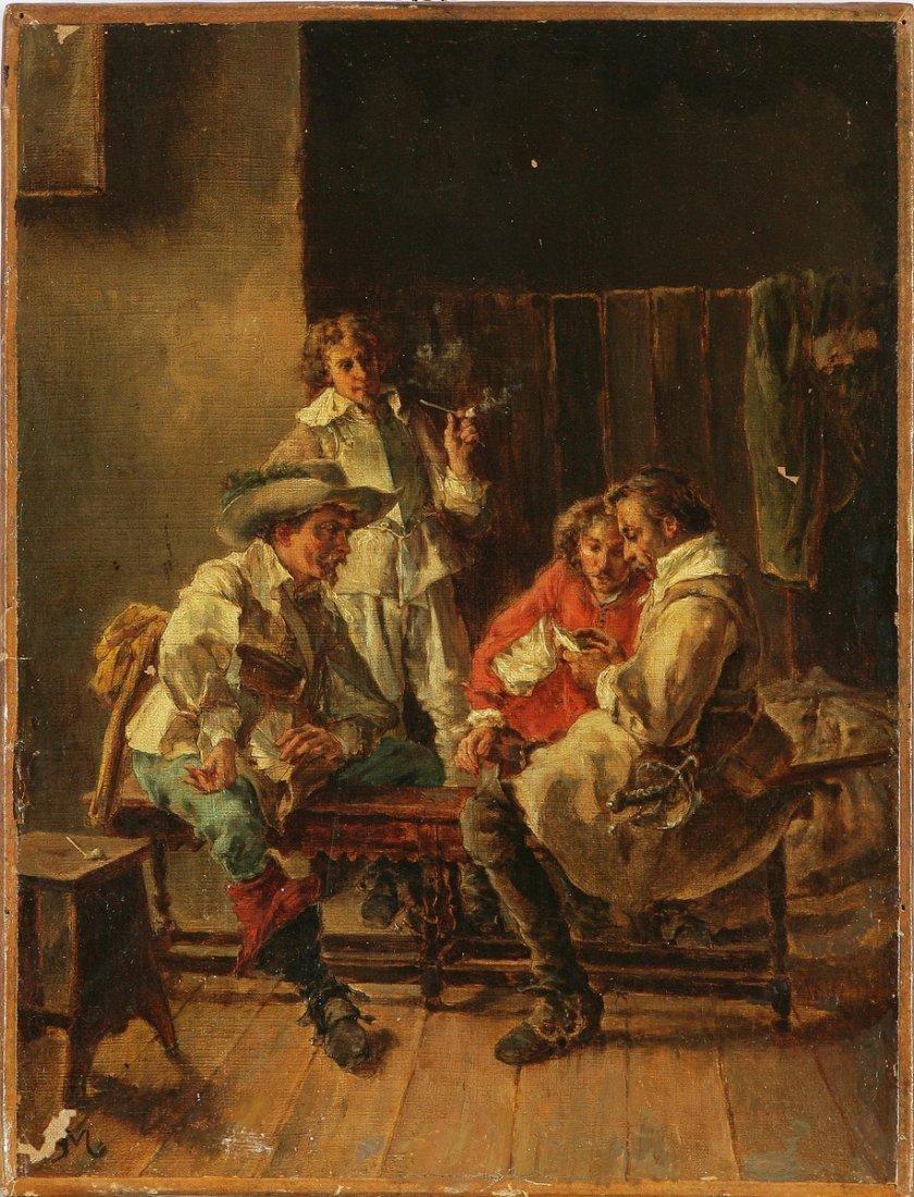 23: ARTISTA DEL XIX SECOLO - Giocatori di carte.