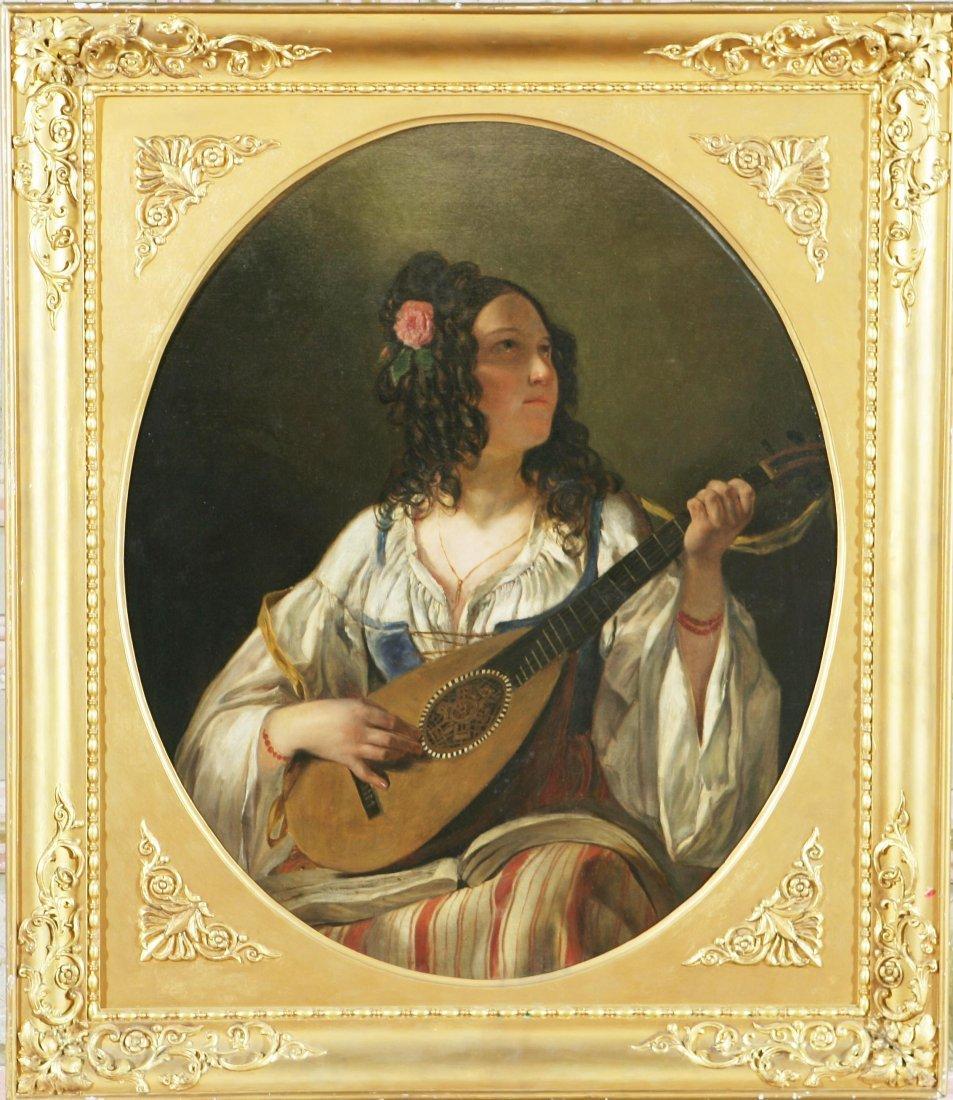 26: ARTISTA DEL XIX SECOLO - Suonatrice di mandolino.