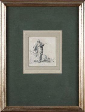 39: ARTISTA DEL XVIII SECOLO - Allegoria della geografi
