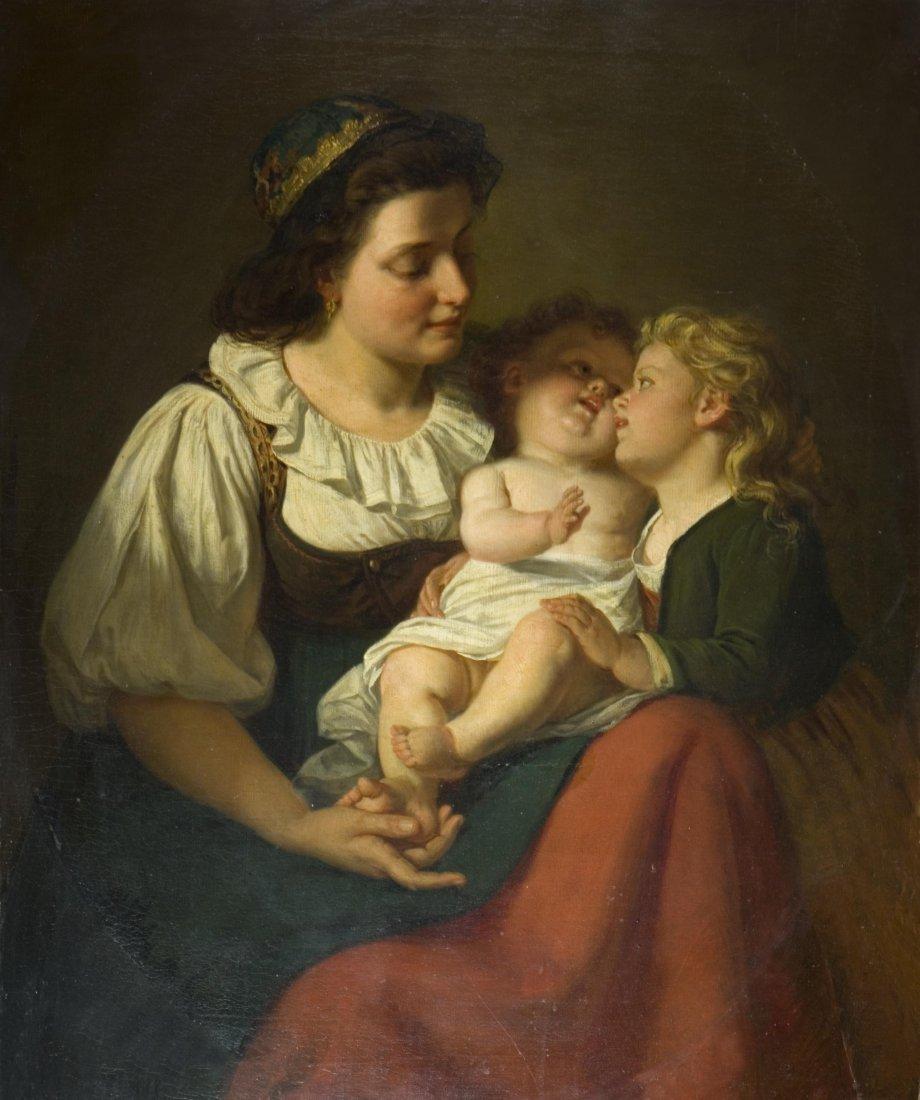 122: RUDOLPH EPP (1834-1910) - Il nuovo nato.