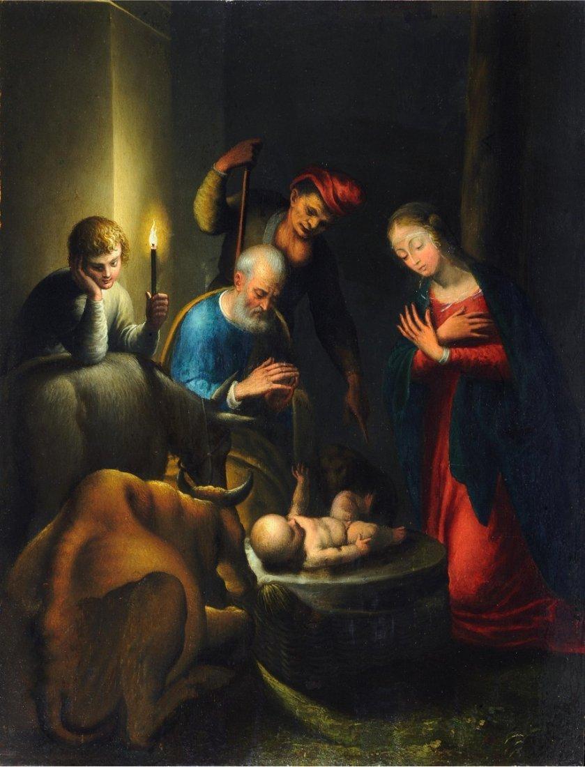 123: JACOPO LIGOZZI - Natività.