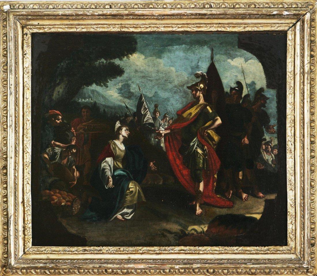126: FRANCESCO SOLIMENA - La clemenza di Scipione.