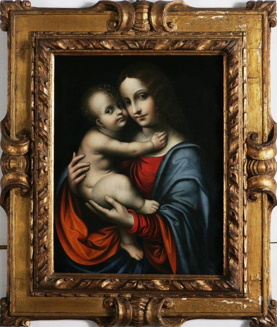 133: MARCO D'OGGIONO - Madonna con Bambino.