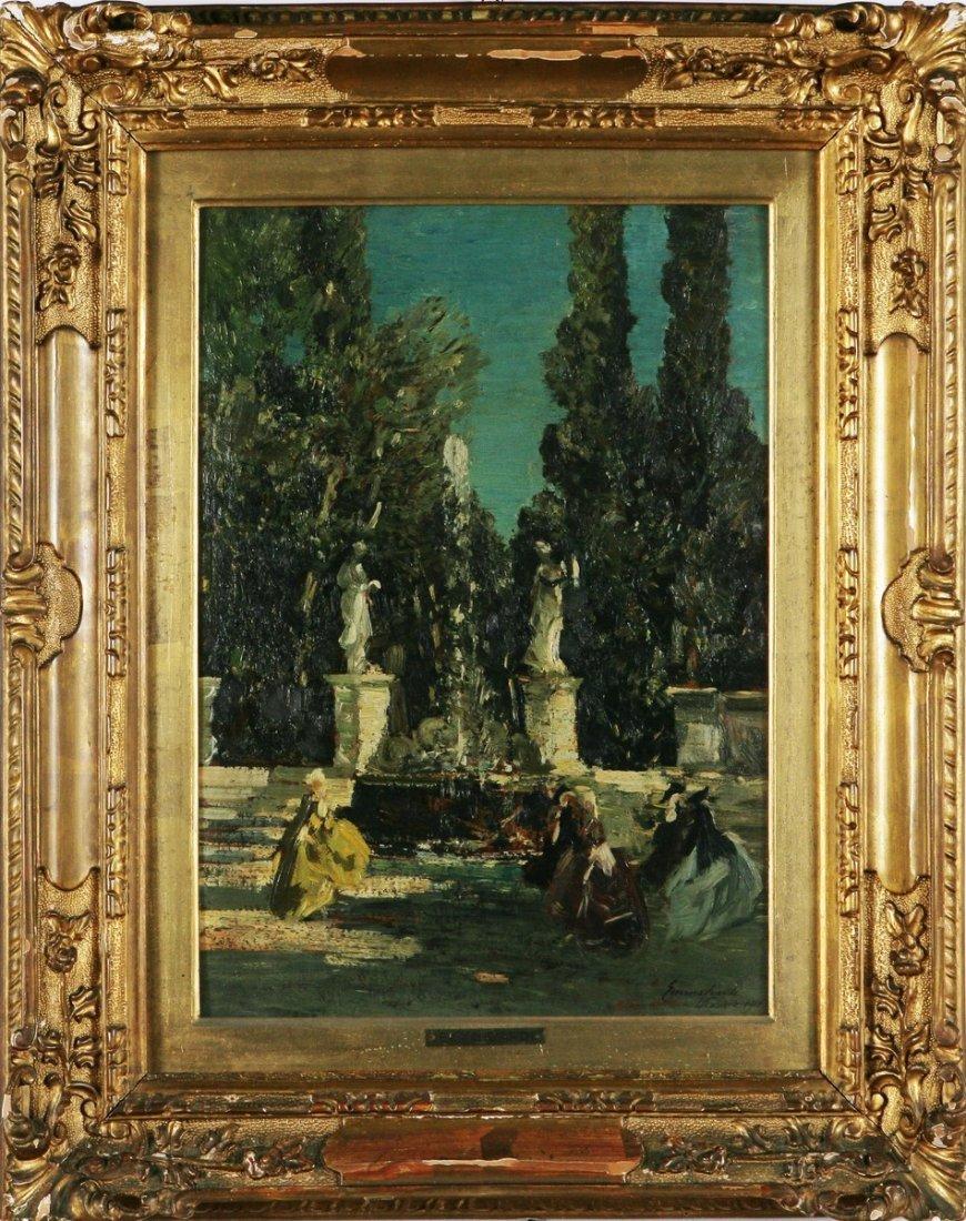 135: EMMA CIARDI - Giardino e fontana con personaggi in