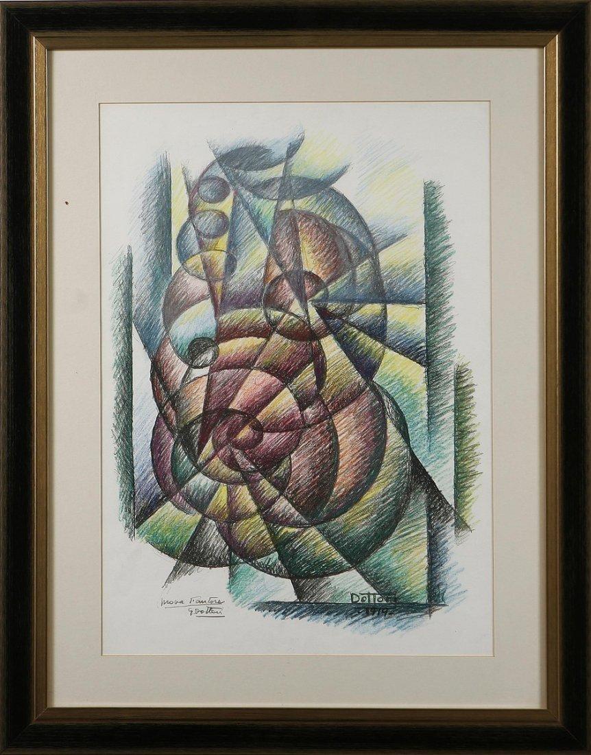 DOTTORI GERARDO (1884 - 1977) - Composizione futurista.