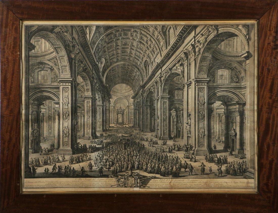 GIUSEPPE VASI - Piazza San Pietro e interno della