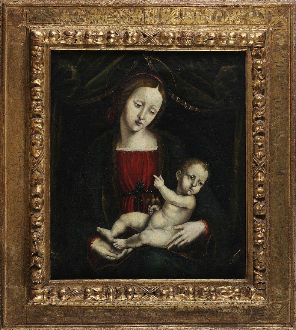 ARTISTA DEL XVI SECOLO - Madonna con bambino.