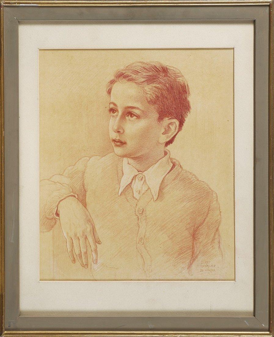 BORIS GEORGIEV - Ritratto di fanciullo.