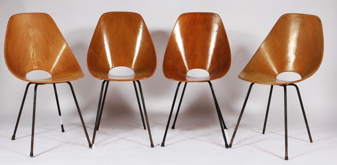 VITTORIO NOBILI Quattro sedie modello Medea.