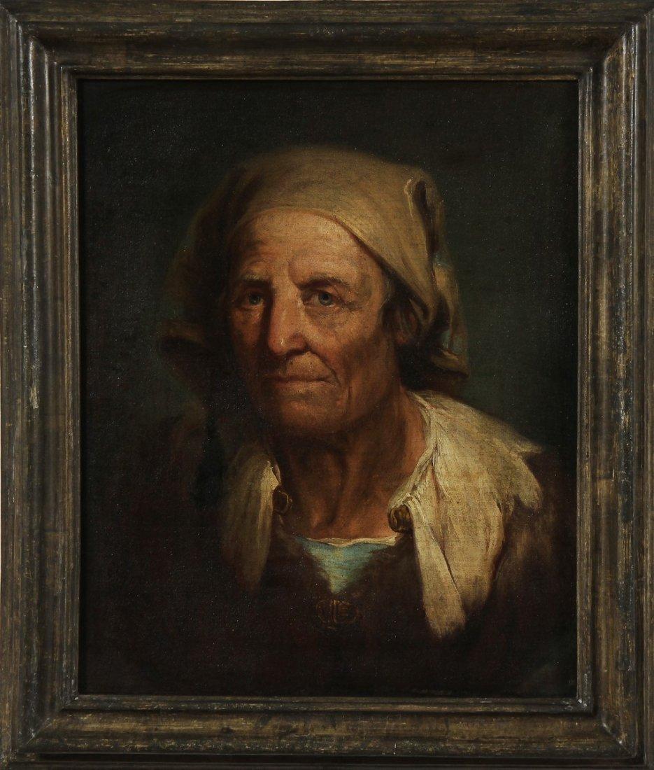 GIUSEPPE NOGARI Ritratto di anziana.