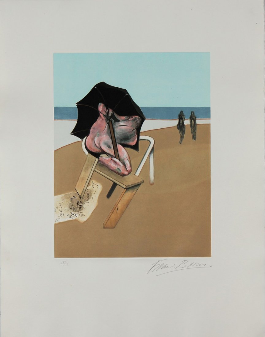 FRANCIS BACON Left panel (from Triptych 1974-1977).
