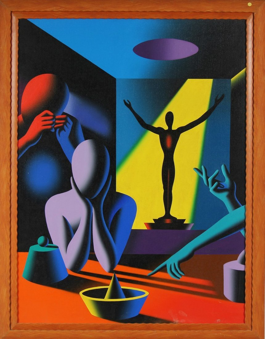 MARK KOSTABI Part of the action.