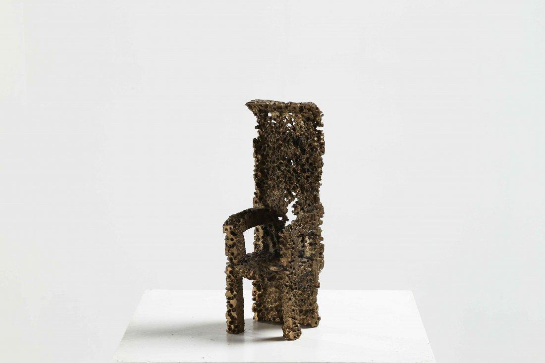 PALMA URANO (n. 1936) Sculpture depicting chair.
