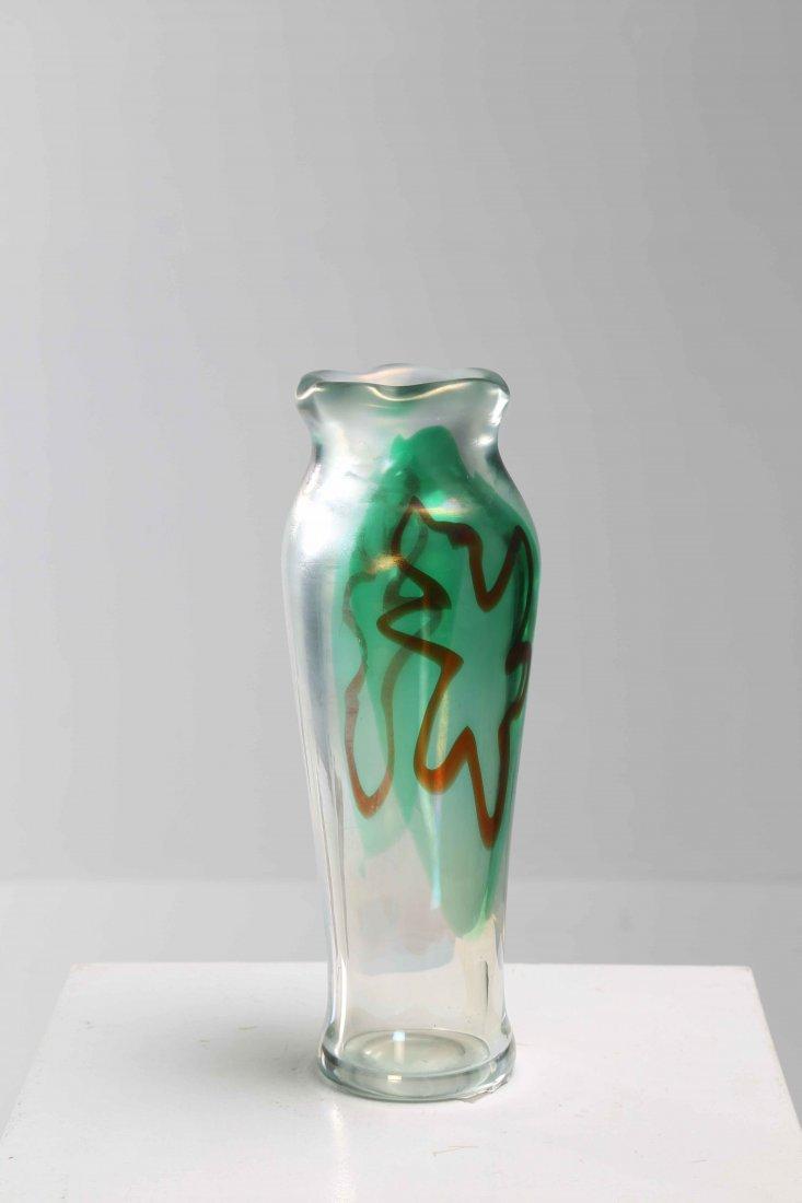 SCARPA CROCE LUIGI (1901 - 1967) Glass vase with
