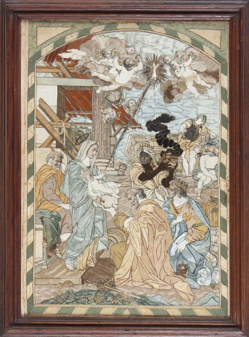 XVIII CENTURY ITALIAN MANUFACTURE The adoration of the