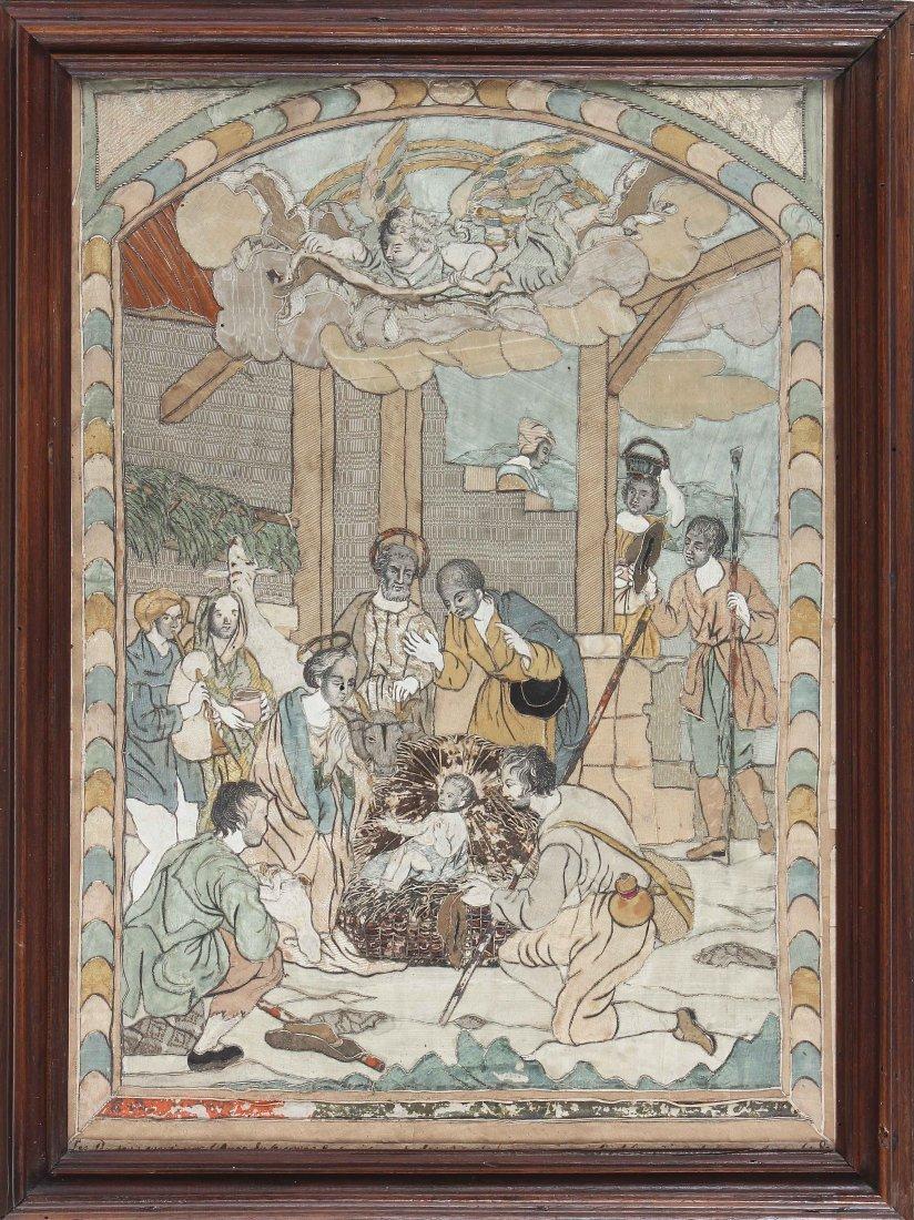 XVIII CENTURY ITALIAN MANUFACTURE Adoration of the
