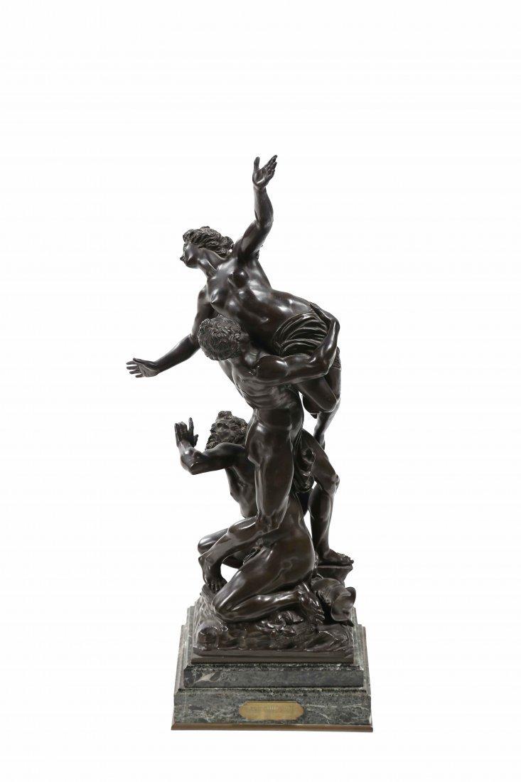 XIX CENTURY ITALIAN MANUFACTURE The Rape of the Sabine