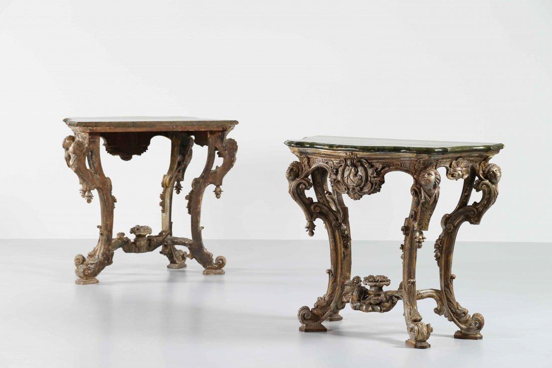 XVII CENTURY FRENCH MANUFACTURE Elegant pair of
