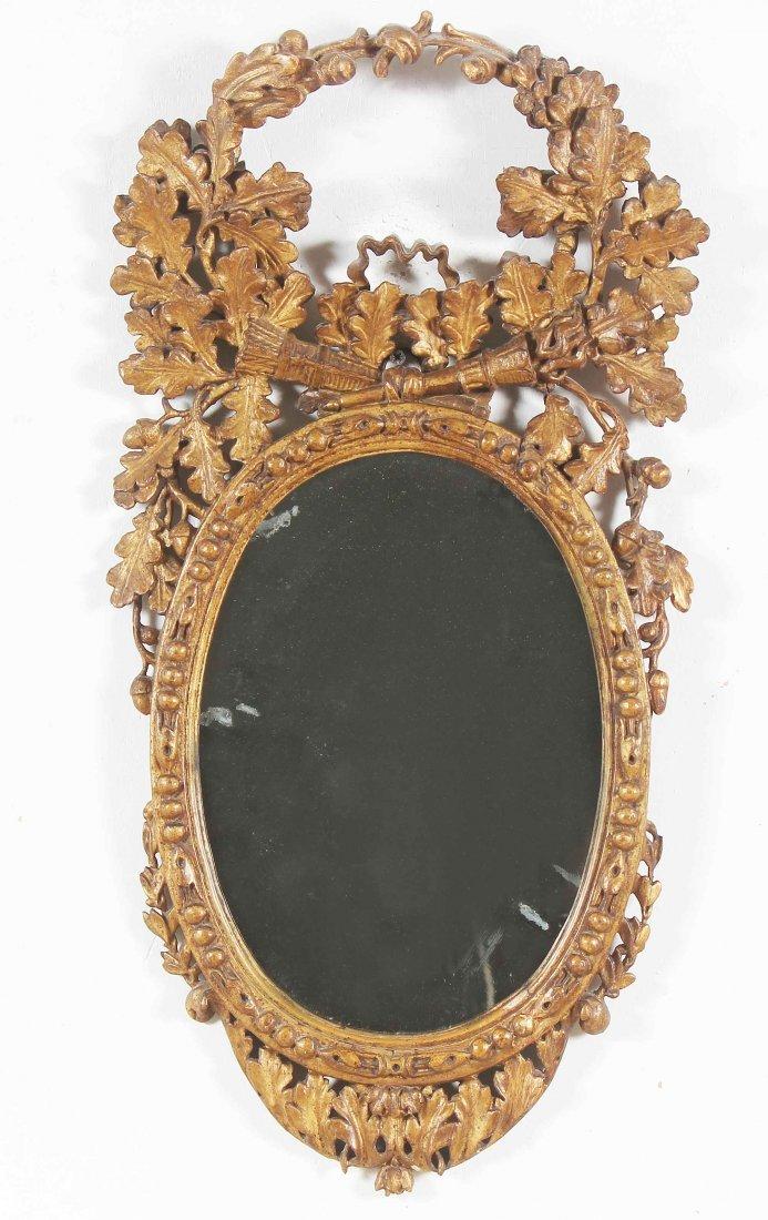 XVIII CENTURY GENOESE MANUFACTURE Elegant wall mirror
