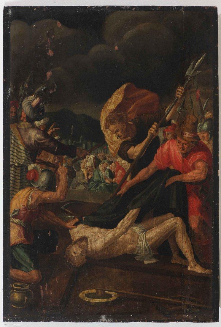 XVII CENTURY FLEMISH ARTIST Scene of the Way of the