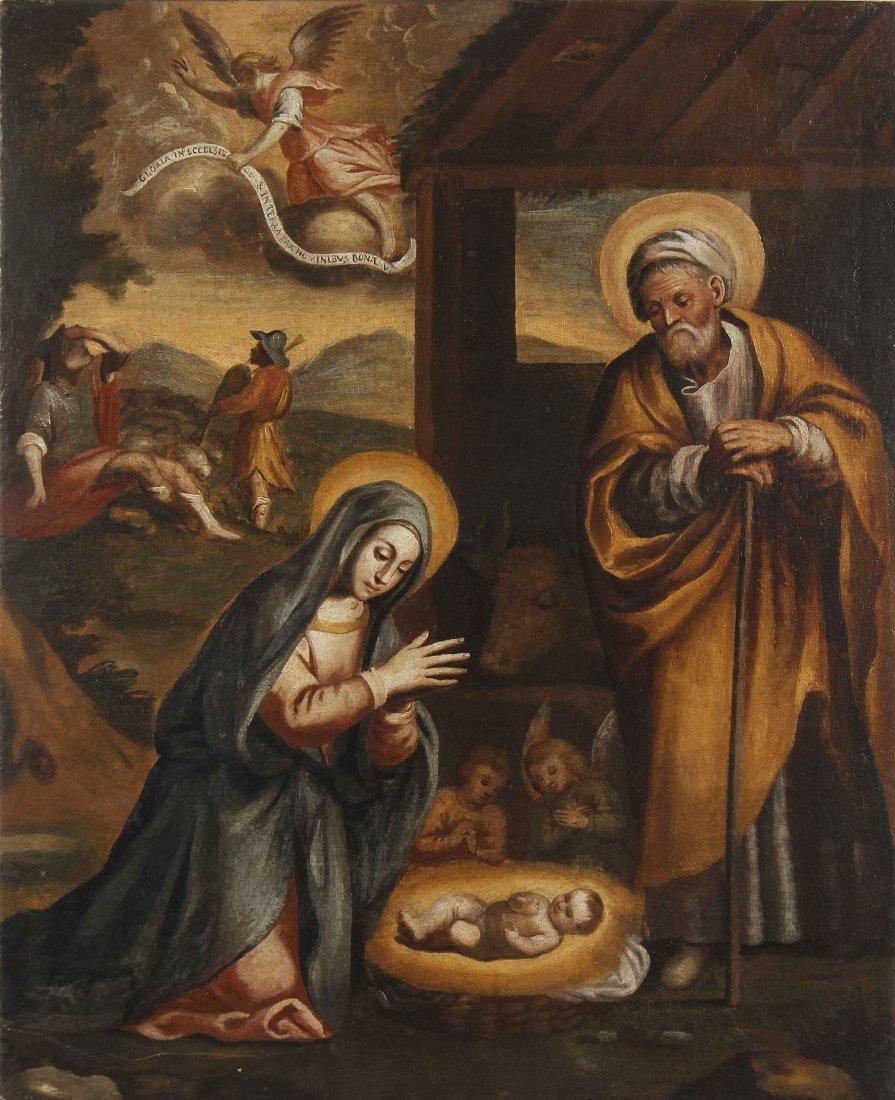 XVII CENTURY ITALIAN ARTIST  Nativity