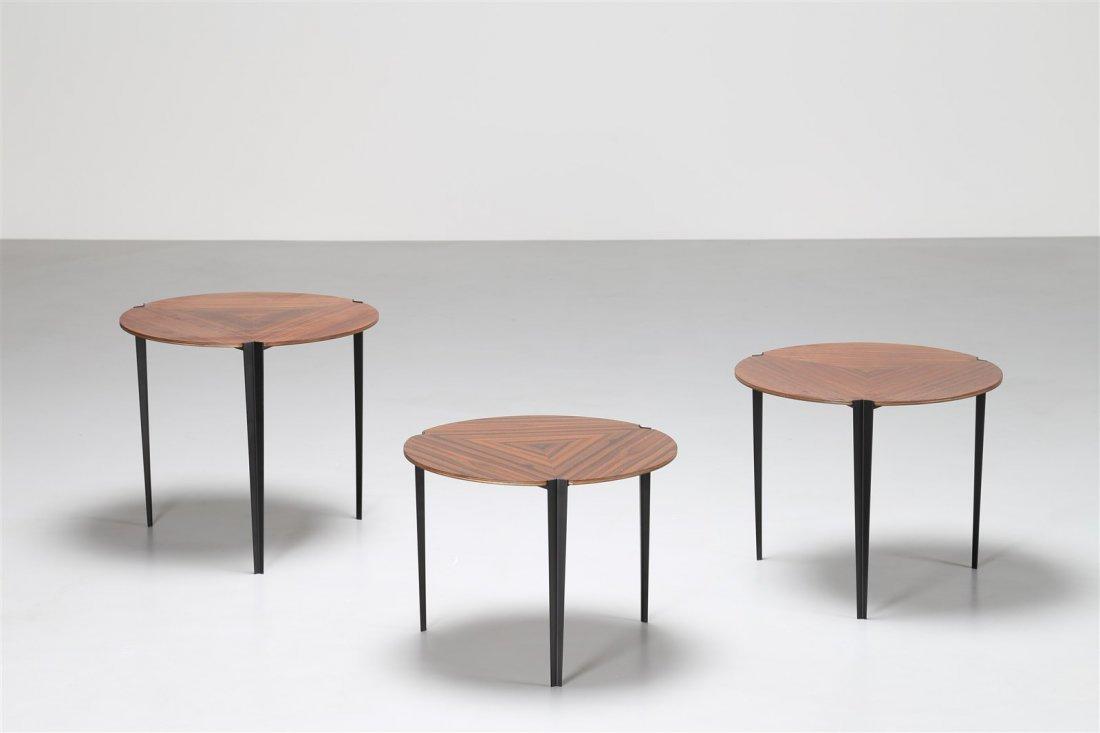 OSVALDO BORSANI Tris di tavolini.