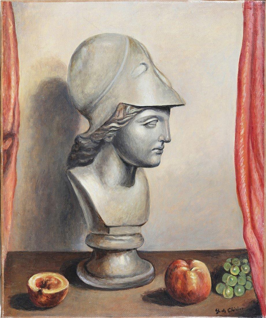 GIORGIO DE CHIRICO Bust of Minerva.