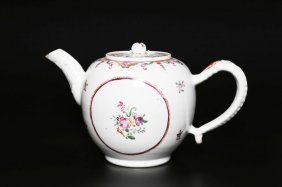 Arte Cinese An East India Company Pottery Teapot