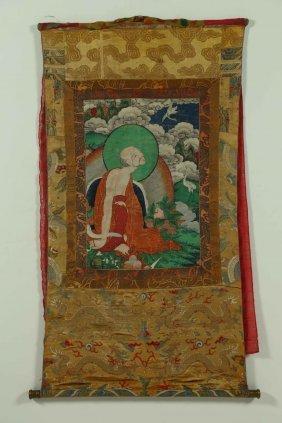 Arte Himalayana A Thangka Depicting An Arhat