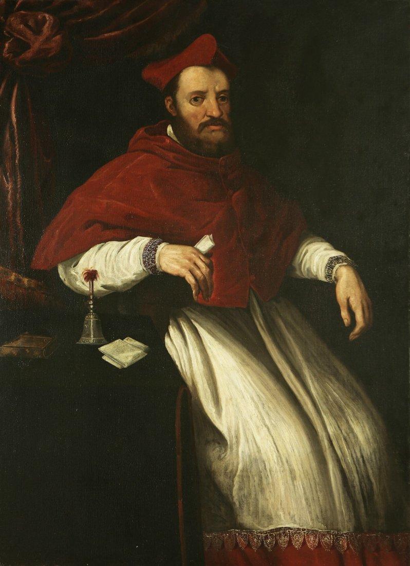 PITTORE ROMANO DEL XVII SECOLO Ritratto di cardinale