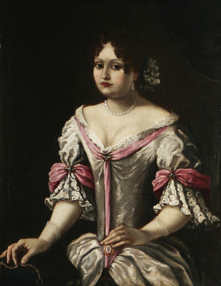 ARTISTA DEL XVIII SECOLO Ritratto di gentildonna.