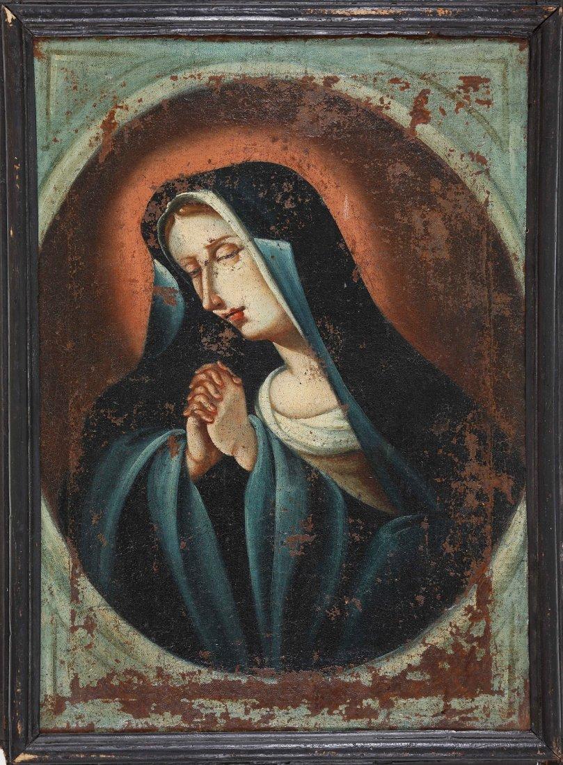 ARTISTA DEL XVII SECOLO. Madonna.